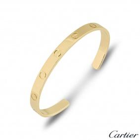 Cartier Yellow Gold Plain Cuff Love Bracelet Size 18 B6032418